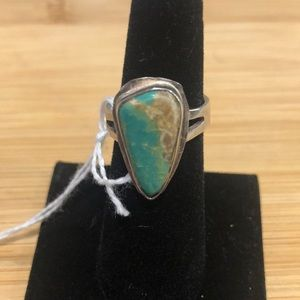 Vintage Real Turquoise and Sterling Silver Ring